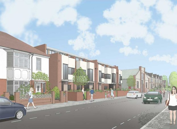 5 New Homes - Marmion Road, Looking East